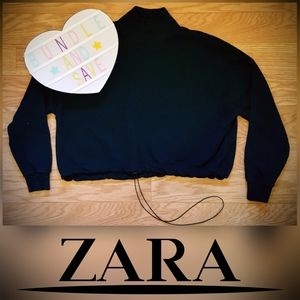 Turtleneck Cropped Zara Basic Sweatshirt